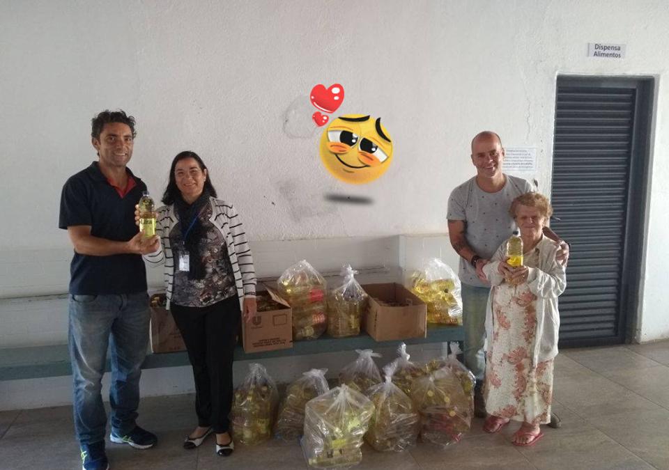 Fundação Rio Branco doa óleo as instituições de Araxá